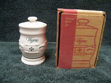 Longaberger Heritage Green Spice Thyme In Box