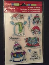 Stampendous Clear Stamps Build Snowman Holiday Winter Stamp Pack Set Christmas
