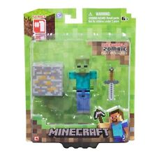 "Minecraft Overworld Zombie 3"" Figure - Articulated Brand New In Box"