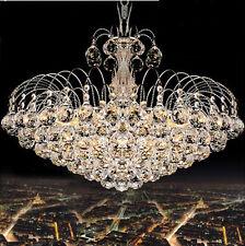 Luxuriöse K9 Klare Kristall Kronleuchter Regen Tröpfchen Chrom Finish