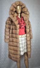 NUOVO SU MISURA Russo Sable Fur Coat migliore qualità IT42 Lynx CINCILLA 'Visone Fox