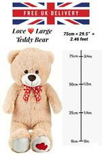 More details for large teddy bear plush giant soft christmas valentines his her gift huge kid toy