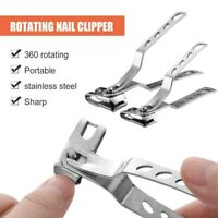 360 Degree Rotary Nail Clippers Stainless Steel Finger Toenail Cutter Trimmer