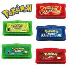 5-Style Fan Advance Gameboy Cartridge Game Card For Pokemon NDSL GBC GBM GBA SP