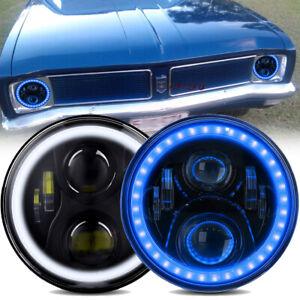 "7"" LED Headlights DRL For Holden HD HR HJ HK HT HG HP HQ HX HZ Premier Kingswood"