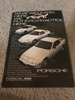 Vintage 1979 PORSCHE 911-SC 928 924 Car Print Ad WHITE 1970s RARE