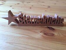 Holz Schriftzug STERNEKÜCHE 40cm Modern Küche Hingucker zum Stellen