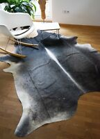 Premium Kuhfell Grau, Braun und Beige, 225cm x 190cm, RUG, NEU