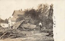 Real Photo Postcard Damage After The Tornado in Lisbon, Iowa~124869