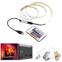 5050 SMD RGB 60LED USB Light Strip TV backlight DC 5V + 24Key Remote controller