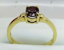 9K Gold Ruby Solitaire Ring