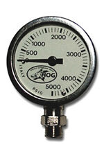 Brass and Glass Pressure Gauge By Hog