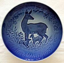 B G Deer & Fawns Bing & Grondahl Mothers Day Plate 9375 Denmark 1975