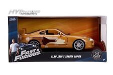 JADA 1:24 FAST AND FURIOUS SLAP JACK'S TOYOTA SUPRA DIE-CAST GOLD 99540