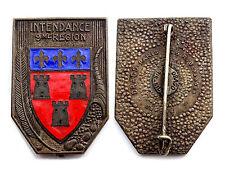 Insigne/ Badge- Intendance de la 9° Région Militaire. Email, Drago Beranger