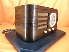Vintage 1937 DETROLA 134 Wood Cabinet TUBE RADIO ~ RARE MODEL From DETROIT! ~
