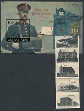 Leporello-AK Wusterhausen / Dosse 1916 Briefträger u Briefkasten m. 10 Ansichten