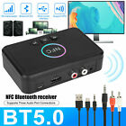 Bluetooth5.0 Wireless NFC Receiver Support AUX/USB/RCA Car Audio Adapter Q0D1