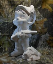 Smiley Hunter (MISC4) Ceramic Bisque Ready To Paint