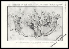 1912 The Influence of the Russian Ballet on the seaside resorts Original print