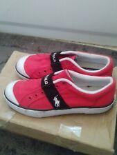 Ralph Lauren Polo Red Canvas tennis shoes , Women Size 7D Slip On