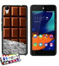 COQUE WIKO RAINBOW UP (4G) CHOCOLAT SILICONE NOIR SOUPLE (TPU)