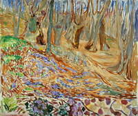 Edvard Munch Elm Forrest in Spring Poster Reproduction Giclee Canvas Print