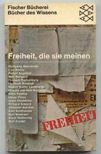 Freiheit, die sie meinen - 17 Beispiele, Uwe Schultz (Hrsg.), Fischer 1967