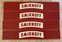 Smirnoff Rubber Bar Spill Drip Drink Rail Mat Lot of 4 Barware