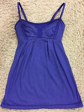 Lululemon Women's SZ 2 XXS Tank Top Blue Purple Built in Shelf Bra