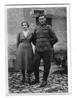 Foto, Soldat in Uniform, Frau