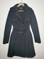 Hobbs ladies padded trench coat black belted sample size 4/6