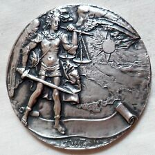 Médaille ARGENT MASSIF 162 gr POLICE ITALIE MINISTERO INTERNO medaglia Policia