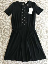 NWT Girls Gucci Black Dress With Crystal Detail Size 8