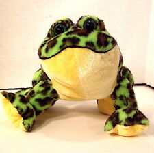 "Webkinz GANZ Bullfrog HM114 Stuff/Plush Beanie Woodland Animal 8"""