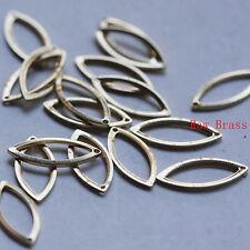 40pcs Raw Brass Charm Oval - 16x7mm (3101C-M-324)