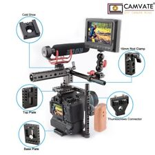 CAMVATE Camera Cage Wooden Handle Grip Accessories for Canon 80D Sony a7sii GH5