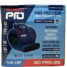 Bluedri Pro 25 14 Hp High Velocity Air Mover Blower Fan Built In Power Outlets