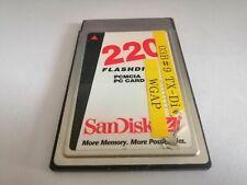 Sandisk 220MB FLASHDISK  PCMCIA PC CARD  FLASH CARD