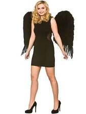 Ladies Womens Large 76cm Black Feather Wings Fancy Dress Gothic Angel Fairy Bird