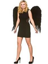 Ladies Womens Large 76cm Black Feather Wings Fancy Dress Gothic Angel Fairy Bird