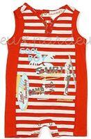 NWT Deux par Deux boys TOM S BEACH red Romper one-piece 3M 6M 9M 12M 18M 24M V45