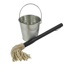 Char-Griller BBQ BASTING MOP WITH BUCKET Galvanized Steel Bucket,Cotton Mop Head