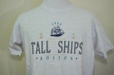 Boston Tall Ships t-shirt gray XL vintage 1992 excellent condition Boston Harbor