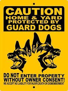 1736 GERMAN SHEPHERD DOG SIGN,9 X 12 ALUMINUM SIGN,SECURITY,WARNING,