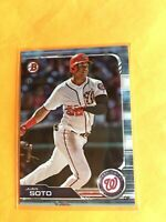 2019 Bowman Juan Soto #92 SKY BLUE PARALLEL #'d /499 2nd year Nationals 1