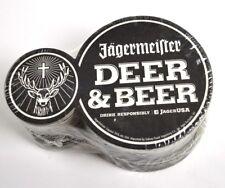 Jägermeister USA Packung mit 25 Bierdeckel Untersetzer schwarz Deer & Beer