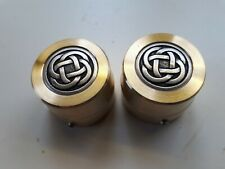 """Harley Davidson """"Celtic Brass"""" Front Axle/Nut Covers"""