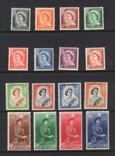 New Zealand 1953 Complete QEII Set - OG MNH - SG# 288-301   Cats $179.50