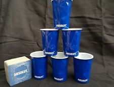 6 x Absolut Vodka Facet  Ice Themed Cups + 50 DRINK MATS NEW